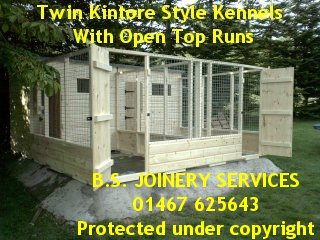 Twin Kintore Kennel with Double run